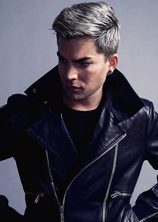 "Adam Lambert ""Camo"" look; Grey Hair"