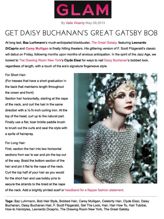 Get Daisy Buchanan's Hair article