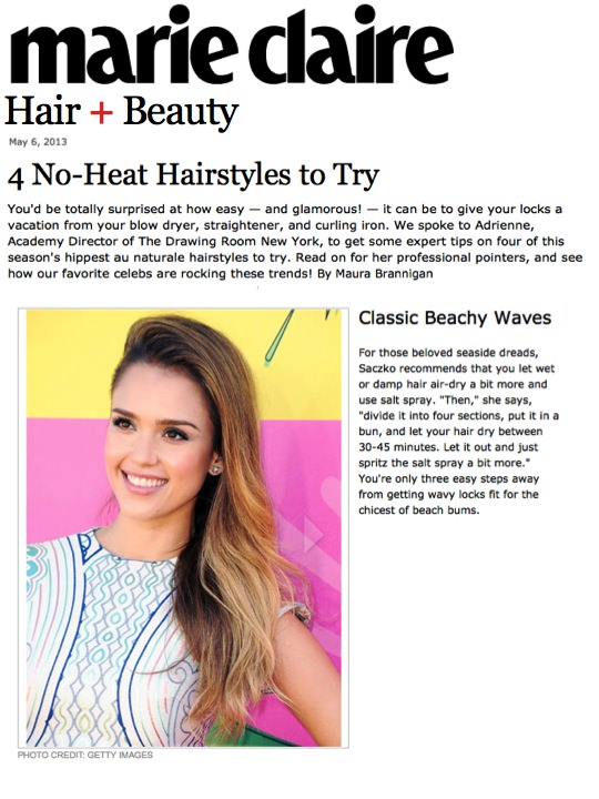 Marie Claire Hair & Beauty clipping