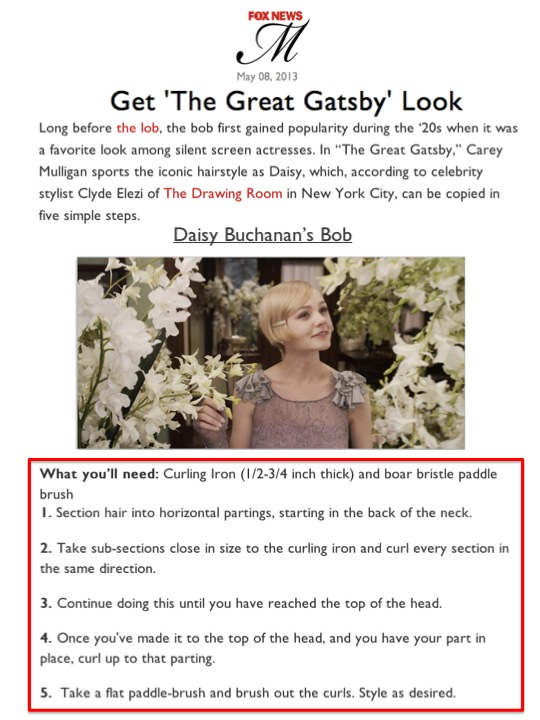 Great Gatsby Look Article
