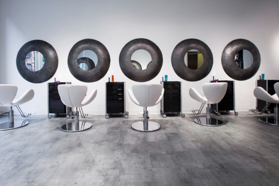 Salon chairs in the studio