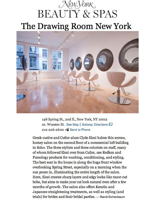 New York Magazine features The Drawing Room New York