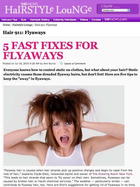 5 Fast fixes for flyaways article